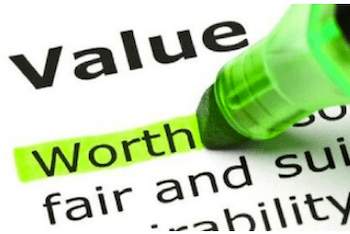 The difference between business profit and value