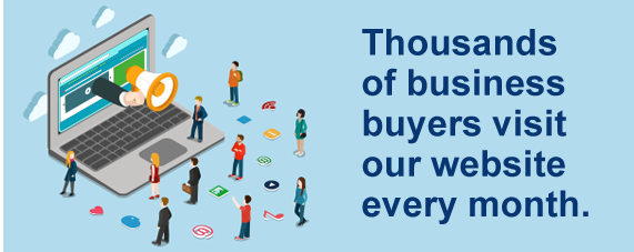 Thousands of business buyers visit our website every month
