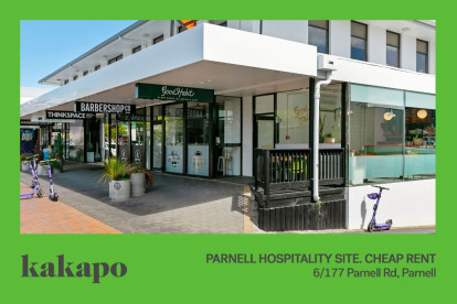 Cafe, Takeaway or Eatery  Business for Sale Parnell Auckland