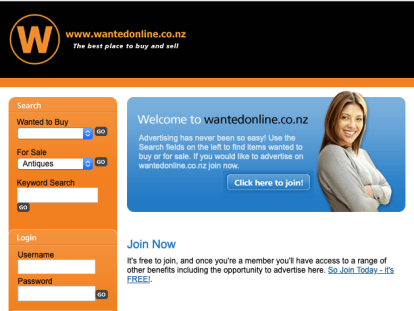 Auction Web Site Business for Sale NZ Anywhere