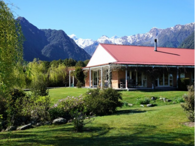 Freehold Bed and Breakfast Business for Sale Fox Glacier West Coast