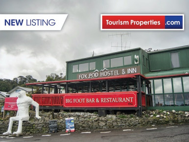 Glacier Inn Hostel Restaurant for Sale Fox Glacier