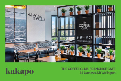 Coffee Club Cafe Franchise for Sale Mt Wellington Auckland