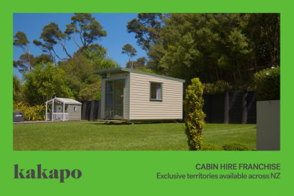 Cabin Hire Franchise for Sale Taranaki