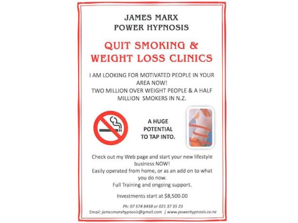 Weight Loss and Quit Smoking Clinics Business for Sale New Zealand