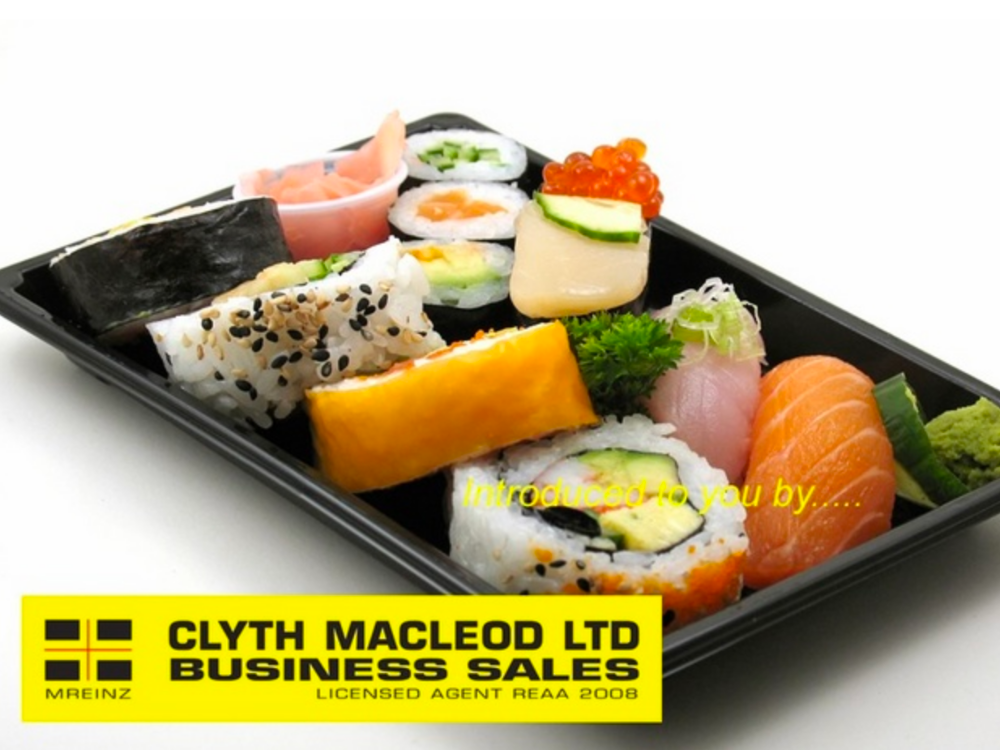 6 Day Sushi Takeaway Business for Sale Auckland