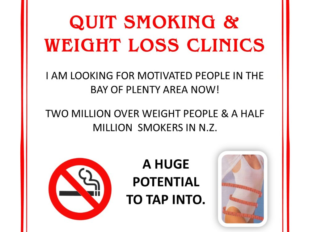 Weight Loss and Quit Smoking Clinic Business for Sale Tauranga Area