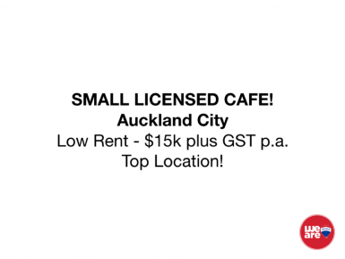 Licensed Cafe  for Sale Auckand City